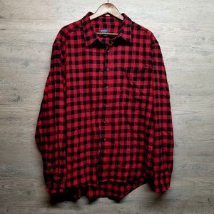 Red/Black Checkered Flannel Shirt. Perfect! Soft!